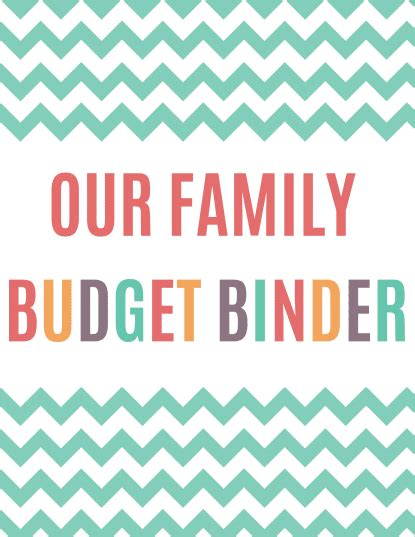 budget cover page template free printable budget binder