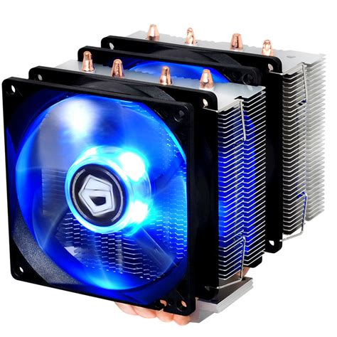 Id Cooling Dk 03 Intel Blue Led Cpu Cooler dual fan 4pin pwm fan blue led tdp 150w cooling for intel for amd cpu cooler fan radiator