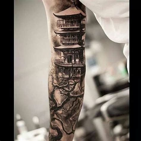chinese temple tattoo tattoos pinterest temple
