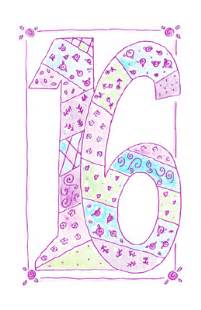 sweet 16 greeting card 16th birthday printable card