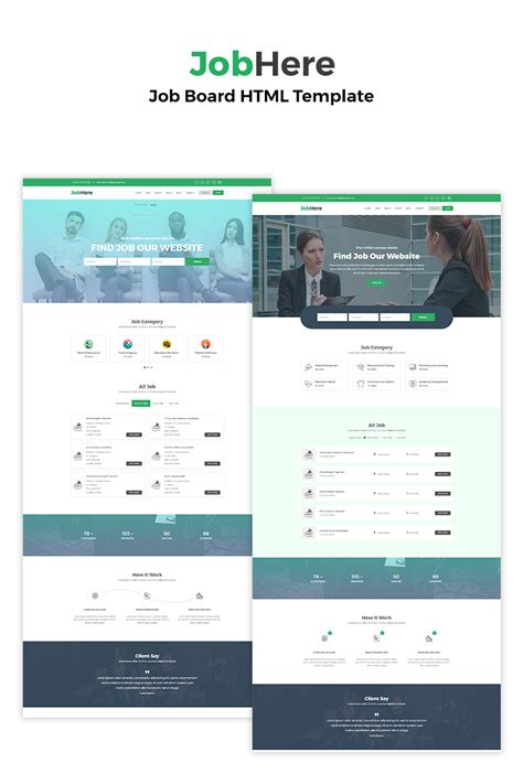 Jobhere Job Board Website Template 69488 Board Website Template