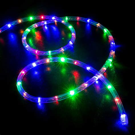 rgb multi color led rope light home outdoor