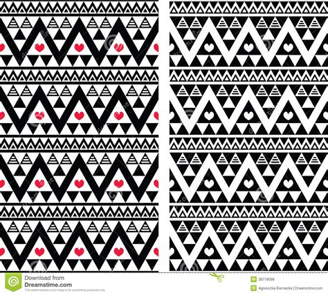 seamless tribal pattern vector free tribal aztec colorful seamless pattern with hearts stock