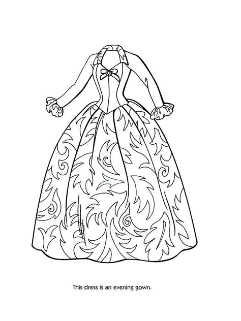 coloring pages for dress victorian coloring pages of women s dress coloring