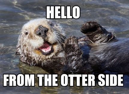 Side By Side Meme - meme creator hello from the otter side meme generator at
