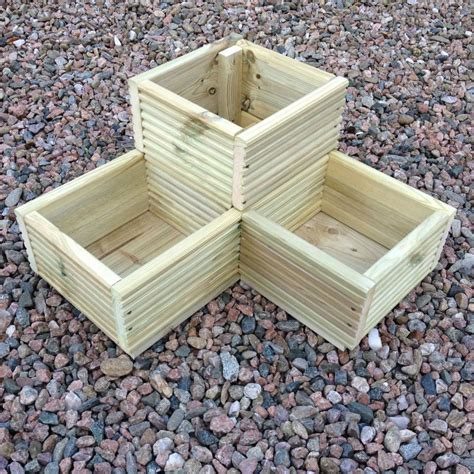 Large Herb Planters details about large corner l shaped wooden garden planter box trough herb planters in decking
