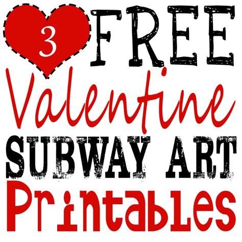 Great Bathroom Designs by Free Valentine Printables Subway Art Glitter N Spice
