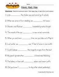has have had worksheet 1