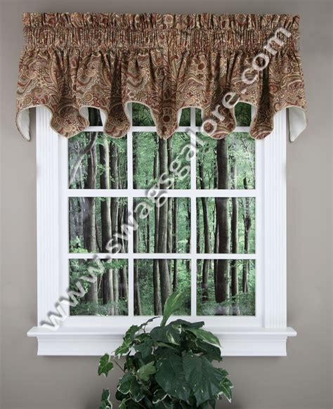 Swags Galore Valances Carlisle Duchess Filler Valance Lined Paisley Valance