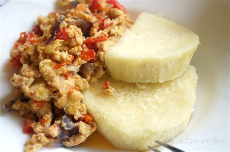 Dinner Egg Recipes yam and egg sauce my active kitchen