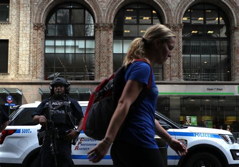 Standing Guard At The New York Library by After Bombings New Yorkers Cop An Israeli Attitude