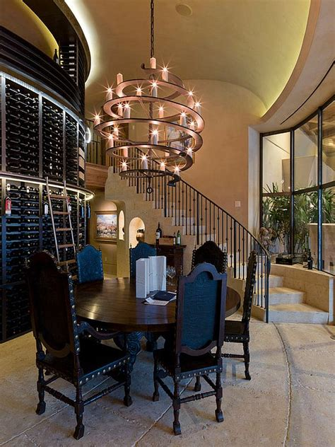 Imposing Chandeliers That Aren T Just For Show Wine Cellar Chandeliers