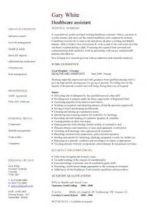 healthcare assistant cv sample clinical resume cv