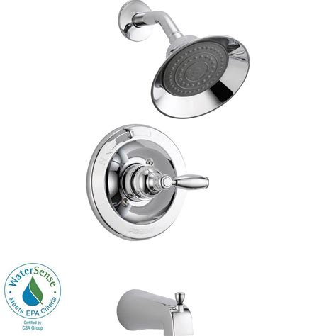 Peerless Single Handle Shower Faucet Repair by Peerless Single Handle Tub And Shower Faucet Trim Kit In Chrome Valve Not Included Ptt188790