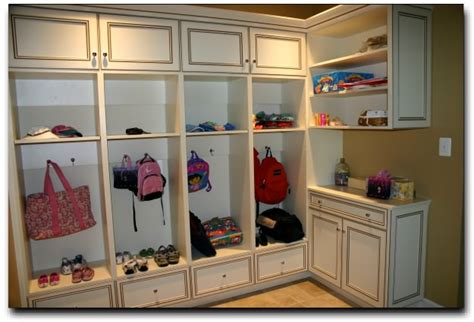 Garage Cubbies by Chicagoland Custom Closets Mud Rooms
