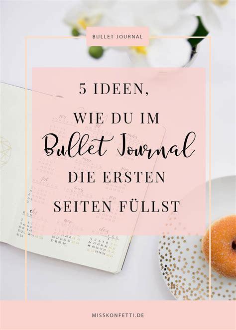 bullet journal ideen fuer die ersten fuenf seiten journal