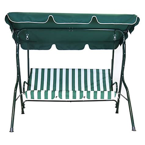 swing seat homebase bentley garden 2 seater swing seat green and white stripe