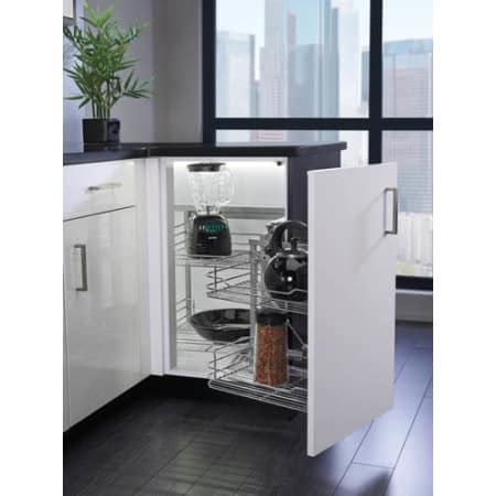 rev a shelf 18 in corner cabinet pull out chrome 3 tier rev a shelf 5707 18cr chrome 5707 series 18 inch blind