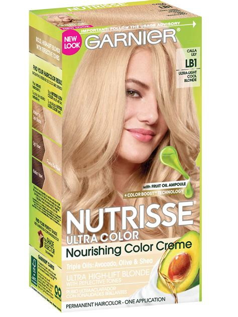 garnier fructis hair dye colors nutrisse ultra color ultra light cool hair color