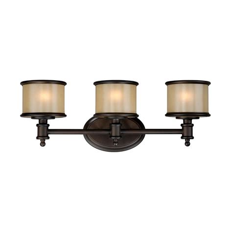 8 light bathroom vanity light shop cascadia lighting carlisle 3 light 8 in noble bronze drum vanity light at lowes com
