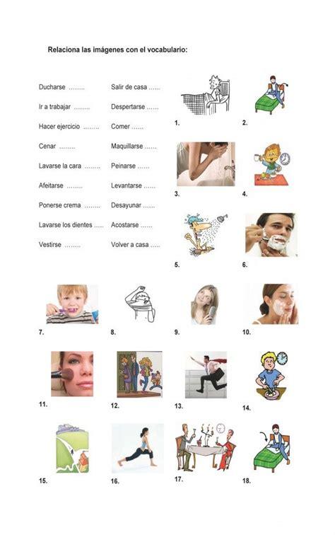 imagenes verbos reflexivos las 25 mejores ideas sobre rutinas diarias en pinterest y