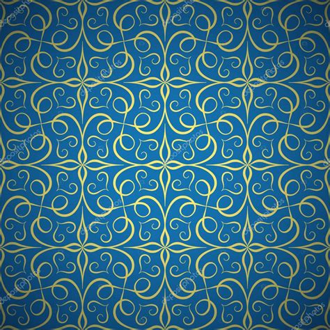 imagenes vectores sin fondo lujo de patrones sin fisuras doradas sobre fondo azul