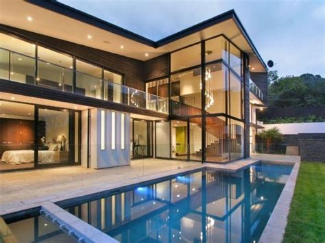 Modern Glass House | home interior design modern glass house frames luxurious