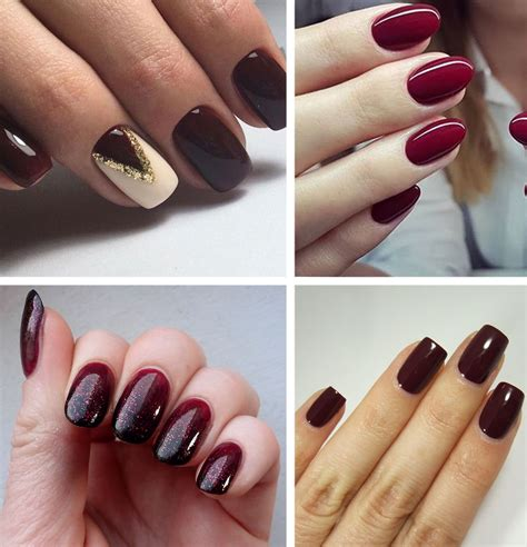 burgundy nail color best burgundy nails 45 nail designs for different shapes