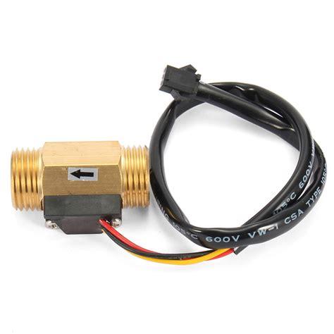 Water Flow Sensor 1 2 Brass Copper Waterflow g1 2 copper effect liquid water flow sensor flowmeter meter alex nld