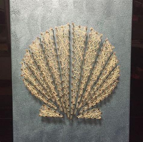 Wood Nail And String - seashell string string string