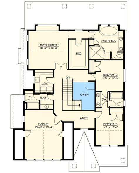 Jack And Jill Floor Plans attractive 3 bedroom bungalow plan 23491jd 2nd floor