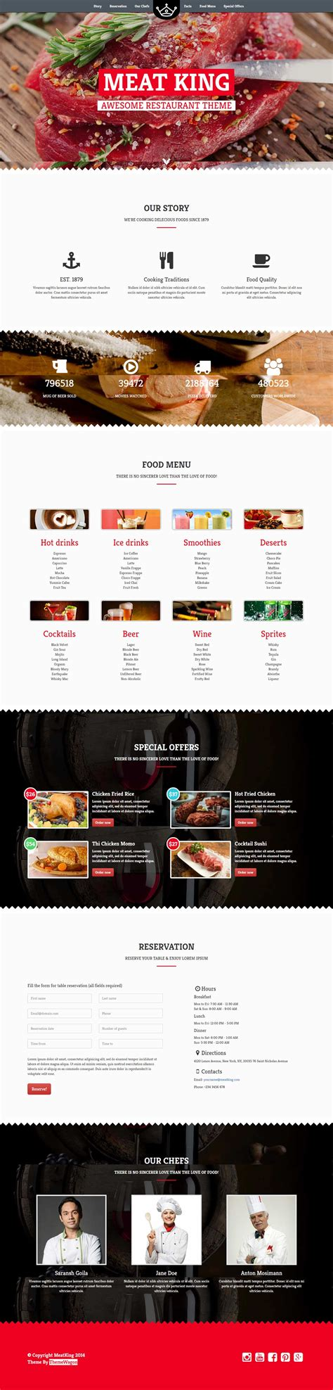templates bootstrap html5 css3 meatking pro bootstrap html5 css3 restaurant website