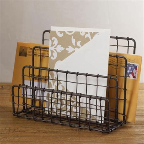 Industrial Desk Accessories Vintage Letter Holder Industrial Desk Accessories By