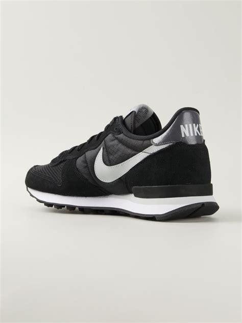 nike internationalist sneakers nike internationalist leather sneakers in black for lyst