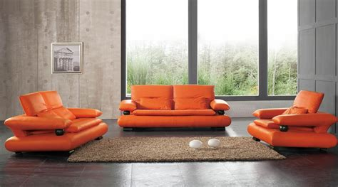 Furniture Orange Ct by 410 Leather Sofa Set For Living Rooms