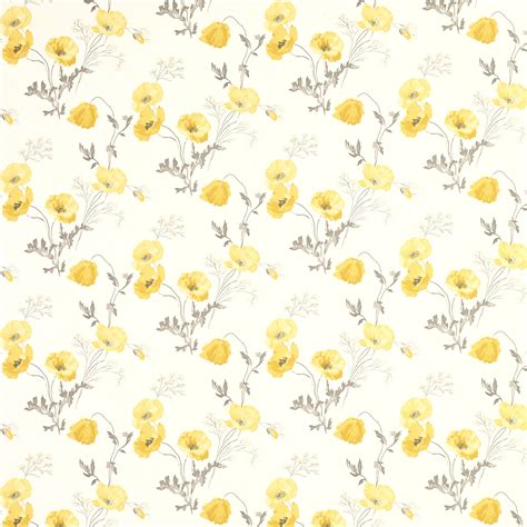 yellow floral wallpaper for walls poppy meadow primrose yellow floral wallpaper wallpaper