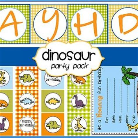 free printable dinosaur party decorations dinosaur party printables free tip junkie