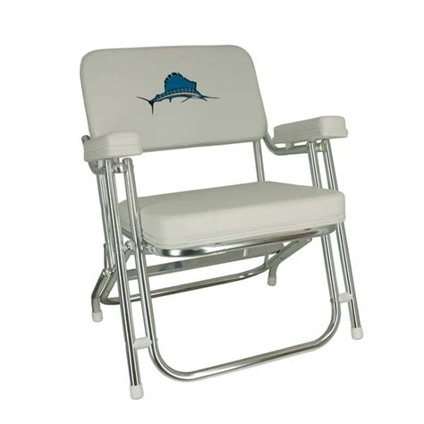 Marine Chairs by Springfield Embroidered Folding Deck Chair West Marine