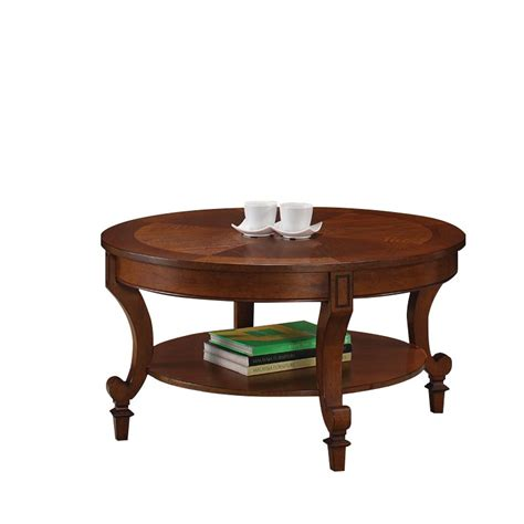 Coaster Coffee Table Coaster Coffee Table With Curved Legs In Warm Brown 704408