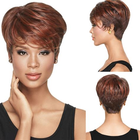 1980s hairstyle wig for black women 1pc natural wig african american short hairstyles wigs for