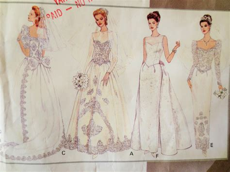 vintage pattern wedding dress vintage vogue 1325 sewing pattern wedding dress pattern