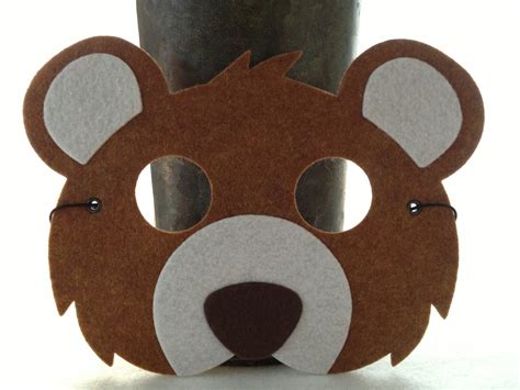 kids brown bear mask bear costume animal mask for pretend