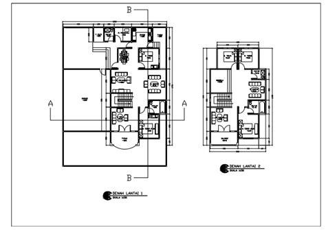 layout denah rumah 2 lantai rumah 2 lantai denah