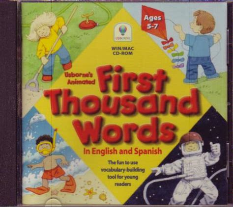 first 1000 words spanish 0746052464 amazon com usborne s animated first thousand words in