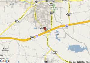 map longview map of econo lodge longview longview