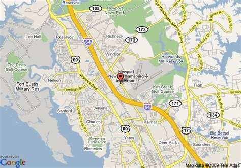 the comfort news map of comfort suites newport news newport news