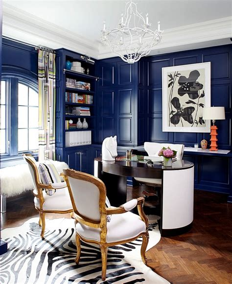 home office design and decor 10 eclectic home office ideas in cheerful blue
