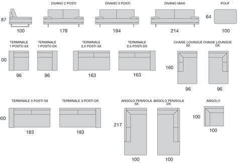 misure standard divano divano maxi rosini argentario sfoderabile a010 vendita