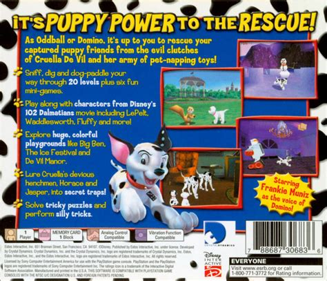 102 dalmatians puppies to the rescue disney s 102 dalmatians puppies to the rescue 2000 playstation box cover