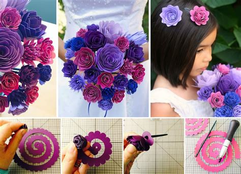 How To Make Paper Flower Bouquets - wonderful diy swirly paper flowers